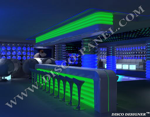 Bars illuminés à LED – Etagères de Bar à LED