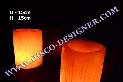 LED Candle (Waxy) - H:15cm, D:15cm