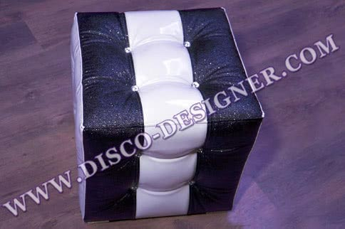 "Baroque Stool - ""Black/White CUBE"""