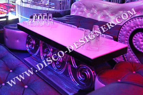 "DISCO TABLE ""FLOWER"" - low"