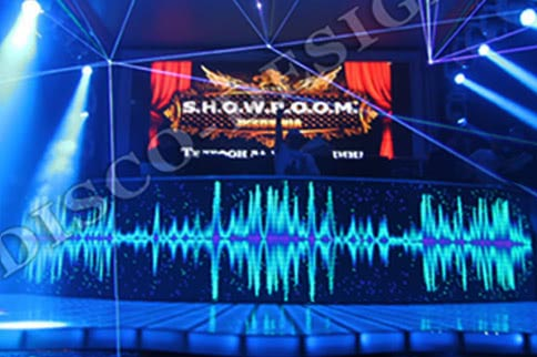 DJ Booth + Video display (Curved Shape), 27 000 px/m²