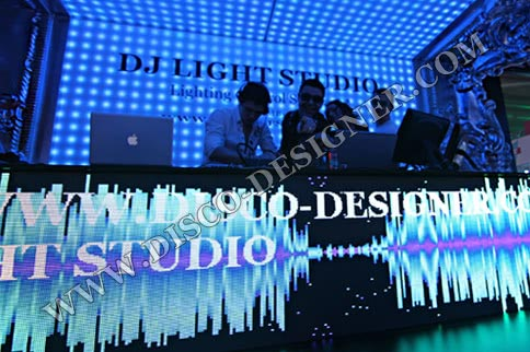 DJ Booth + Video display (Flat Shape), 27 000px/m²