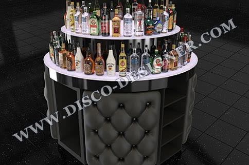 LED Bar Round Bottle Shelf