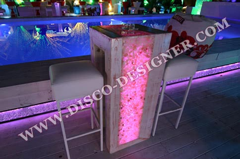 Beach LED TABLE - stone decor