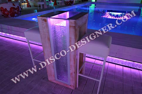 Beach LED TABLE - sparkling glass
