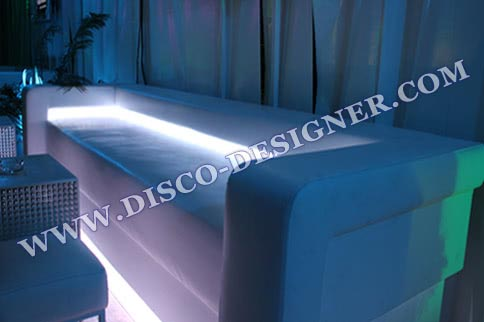 LED DISCO BEACH SOFA