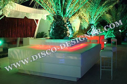 LED BEACH PALM SOFA