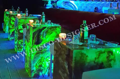 LED BOX TABLE Marble