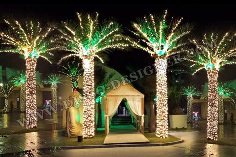 ARTIFICIAL PALM TREE + LED LIGHTING