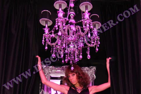 LED Disco Chandelier (Mirrored Crystal) -  Body size - D: 75cm, H: 96cm