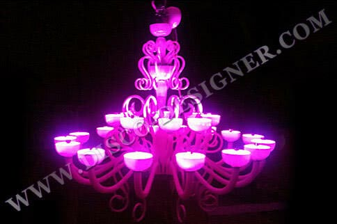 Modern LED Disco Chandelier - model 1 - Body size - D: 150cm, H: 154cm