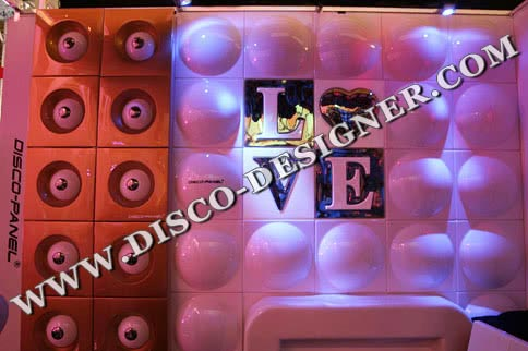 "DISCO-PANEL ""RETRO LOVE"" - Non Illuminated"