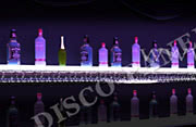 LED Baroque Floating Wall Bottle Display Shelf