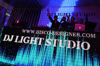 DJ Booth + Video display (Flat Shape), 10 000 px/m²