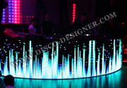 DJ Booth + Video display (Curved Shape), 10 000 pixels per sq.m.