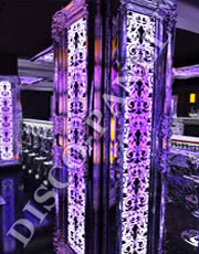 RGB DMX LED Ornamental Wall Panel, silver framing and custom made ornaments, custom size