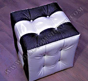 "Baroque Tabouret 2 - ""Black/White CUBE"""