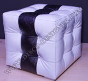 "Baroque Tabouret 3 - ""White/Black CUBE"""