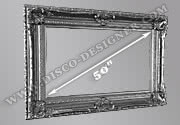 "Baroque Frame for Plasma Screen 50"",  Frame Width: 20cm"