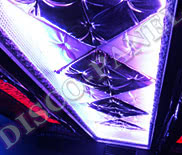 RGB DMX LED Ceiling Panel with custom made decorations, mirrored framing, custom size