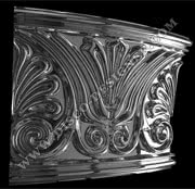 "BAR DECOR ""FLOWER""- curved panel - Relief ornamental panel, mirrored finish (H 115cm x W 135cm)"