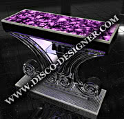 "DISCO TABLE ""FLOWER"" WITH OPENING"