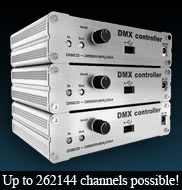 SOUND-TO-LIGHT DMX512 CONTROLLER  Including DJ LIGHT STUDIO Lighting Control Software - Windows Compatible.