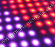 LED DANCE FLOOR RETRO-MODERN 64 High Power Pixels per sq. meter