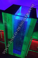 LED Table de Plage - verre brillant