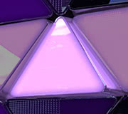 LED Triangle Panel (MIRROR FINISH) - 40cm x 35cm x 50cm