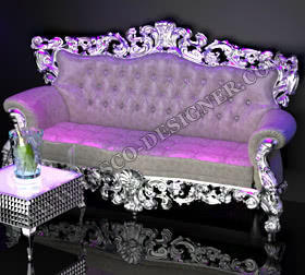 QUEEN SOFA WITH ORNAMENTAL FRAME