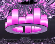 LED RGB Candle Chandelier - Small