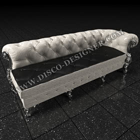 LUXURY BAROQUE DISCO SOFA - silver/golden finish legs