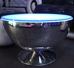 "TABLE ""GRANDE BOULE DISCO""  - Diamètre: 1 m"