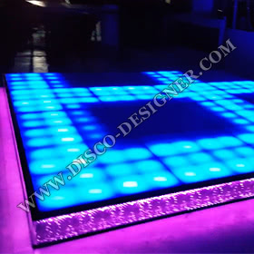 LED DANCE FLOOR RETRO 16 High Power Pixels per sq. meter + LED STAIR