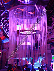 LED String Chandelier + Small Washer, Body size - D: 120cm, H: 50 cm