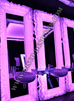 LED Baroque Ornamental Mirror - Model 4