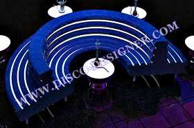 Double LED Disco Sofa Moderne Rond