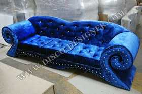 Disco Sofa Baroque  - Velours Bleu