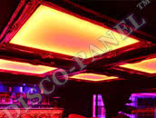 RGB DMX LED Ceiling Panel, mirrored framing - 224cm x 160cm