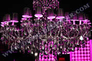 BIG LED Disco Chandelier (Mirrored Crystal), Body size - D: 200cm, H: 140cm, RGB DMX512 controlled
