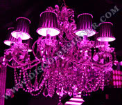 LED Disco Chandelier (Mirrored Crystal), Body size - D: 95cm, H: 80cm, RGB DMX512 controlled
