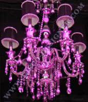 LED Disco Chandelier (Mirrored Crystal) -  Body size - D: 75cm, H: 96cm, RGB DMX512 controlled