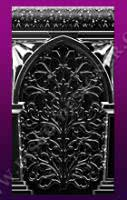 BAR DECOR - Relief ornamental panel, mirrored finish (H 112cm x W 62cm)