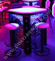 LED ORNAMENTAL TABLE - mirrored relief