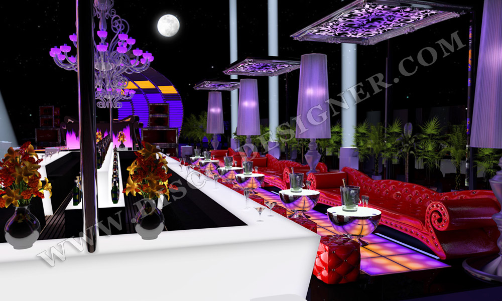 3D disco interior design