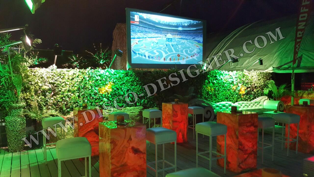 Disco flowers wall by disco designer for Designer com