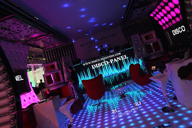 Custom made retro modern dance floor applications for Disco night club