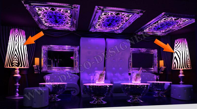 led ultra barock disco lampe. Black Bedroom Furniture Sets. Home Design Ideas