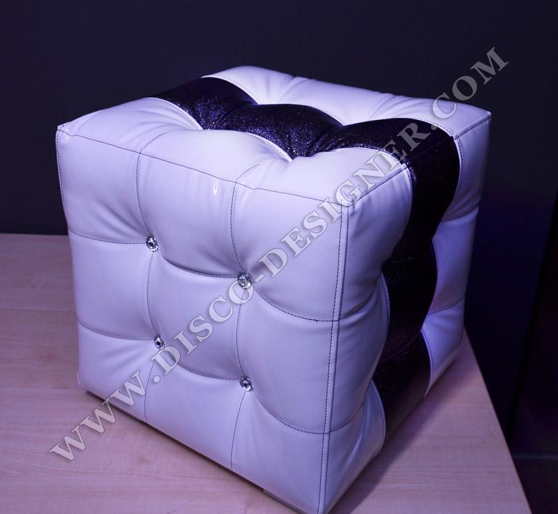 Baroque tabouret cube - Tabouret baroque blanc ...